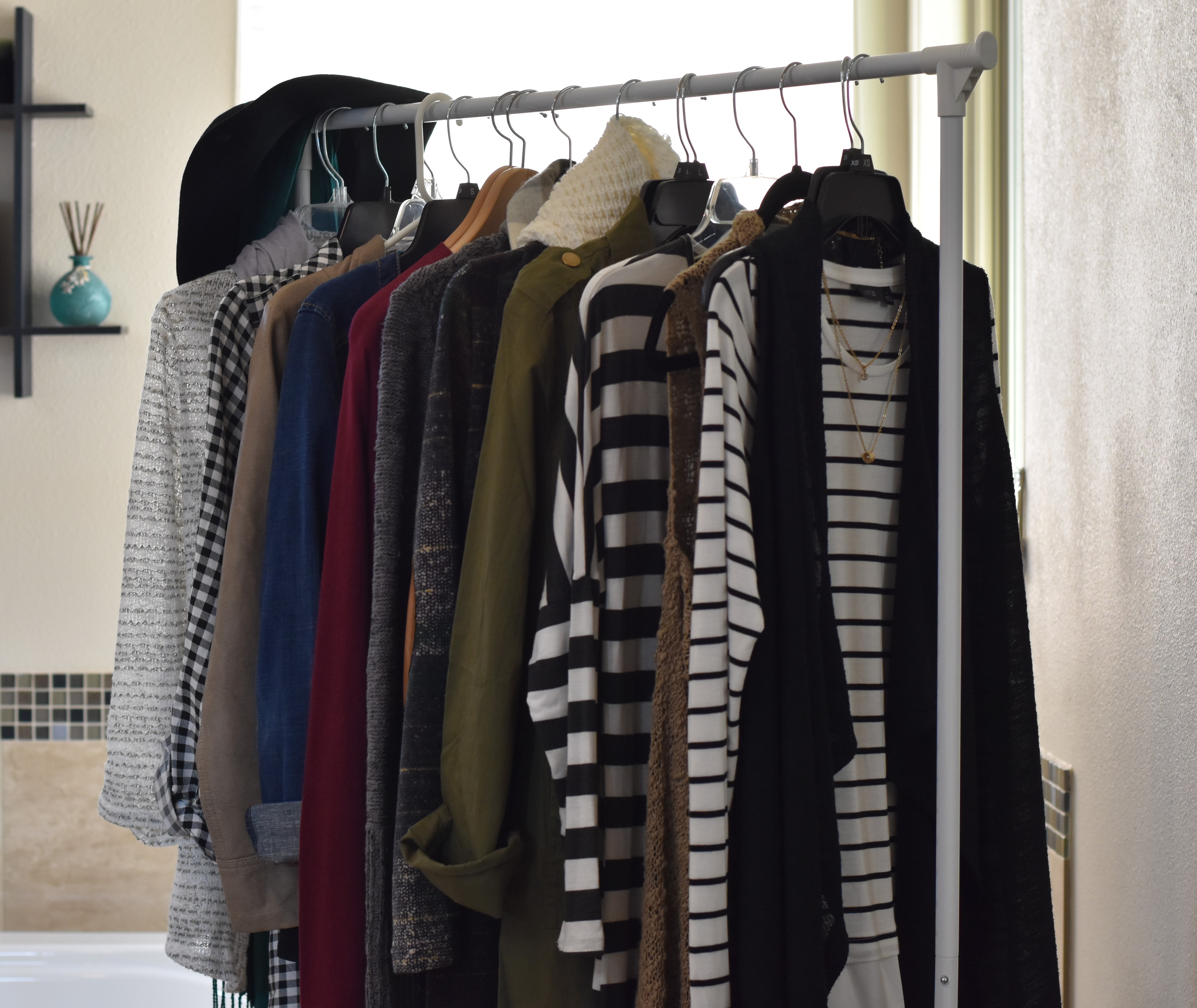 wardrobe staging  – my time saving technique