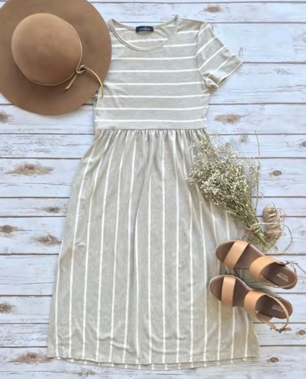 Stripe Pocket Midi