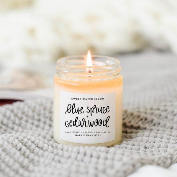 Blue Spruce + Cedarwood Soy Candle