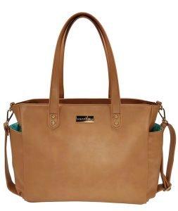 Aquila Tote Bag - Brown Vegan Leather