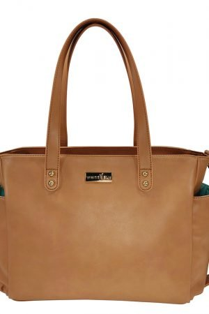 Aquila Tote Bag - Brown Vegan Leather
