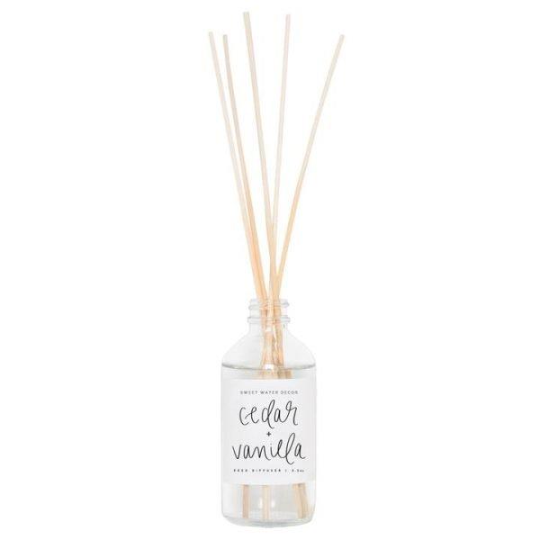 Cedar + Vanilla Reed Diffuser