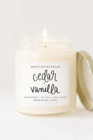 Cedar Vanilla Soy Candle
