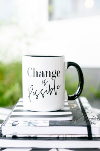 coffee at tiffanis change is possible mug