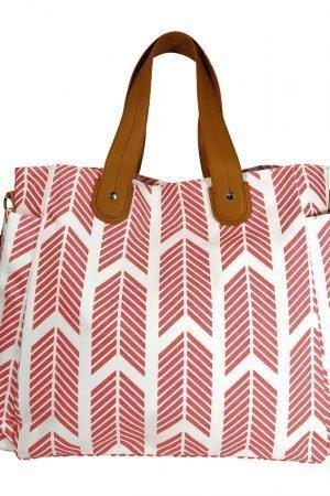 Coral Arrows Weekender Tote Bag