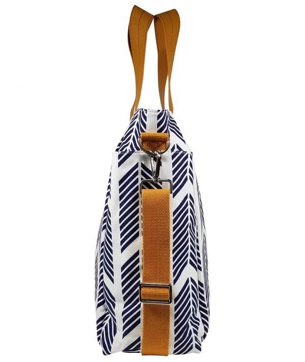 Navy Blue Arrows Weekender Tote Bag