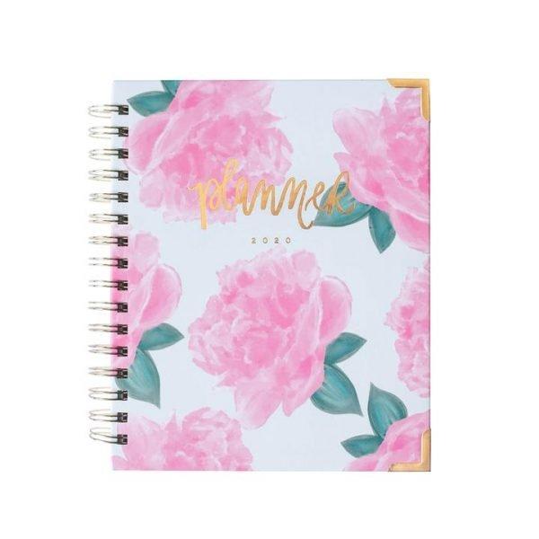 Pink Peonies Floral Planner 2020