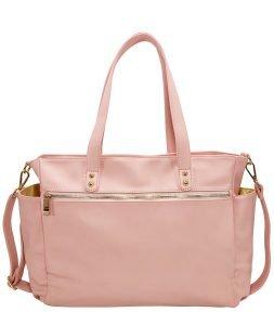 Aquila Tote Bag - Pink Vegan Leather