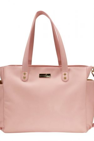 Aquila Tote Bag - Pink Vegan Leather