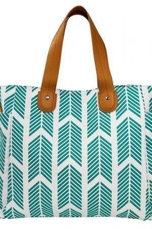 Teal Arrows Weekender Tote Bag