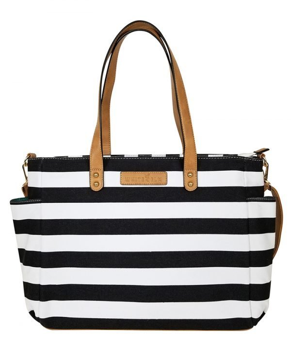 Aquila Stripe Tote Bag - Black
