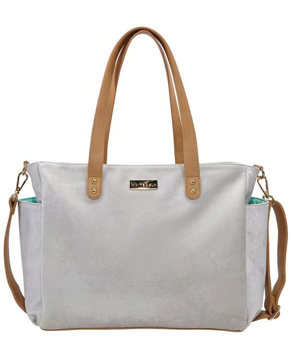 Aquila Tote Bag - Gray Microsuede