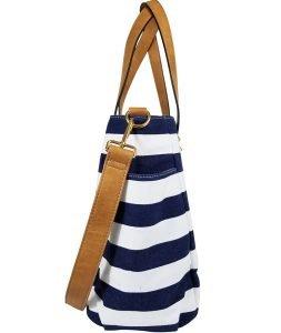 Aquila Stripe Tote Bag - Navy Blue