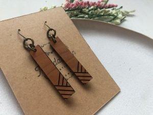 Matchsticks earrings
