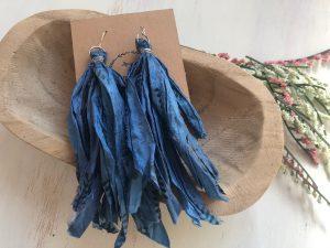 Sari Silk Tassels – Warm Colors
