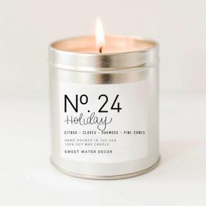 HOLIDAY SOY CANDLE | SILVER TIN CANDLE