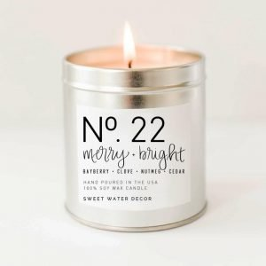 MERRY + BRIGHT SOY CANDLE SILVER TIN CANDLE