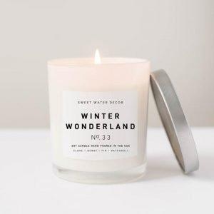 WINTER WONDERLAND SOY CANDLE | WHITE JAR CANDLE