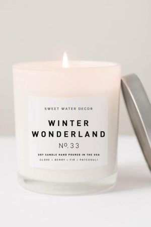 WINTER WONDERLAND SOY CANDLE | WHITE JAR CANDLE