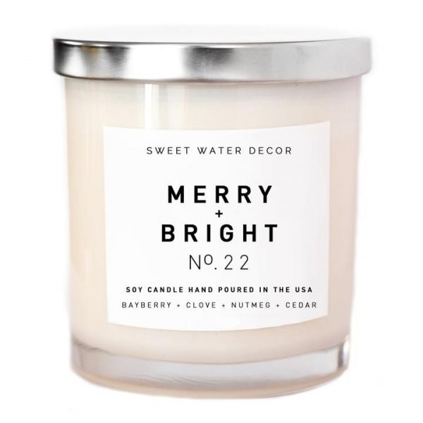 MERRY + BRIGHT SOY CANDLE | WHITE JAR CANDLE