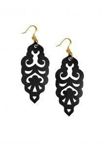 black filigrie earrings