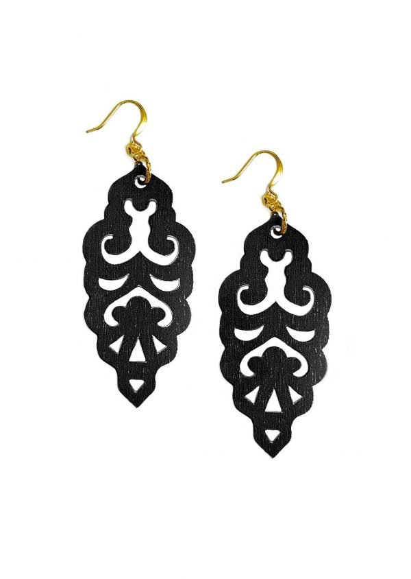 black filigrie earrings