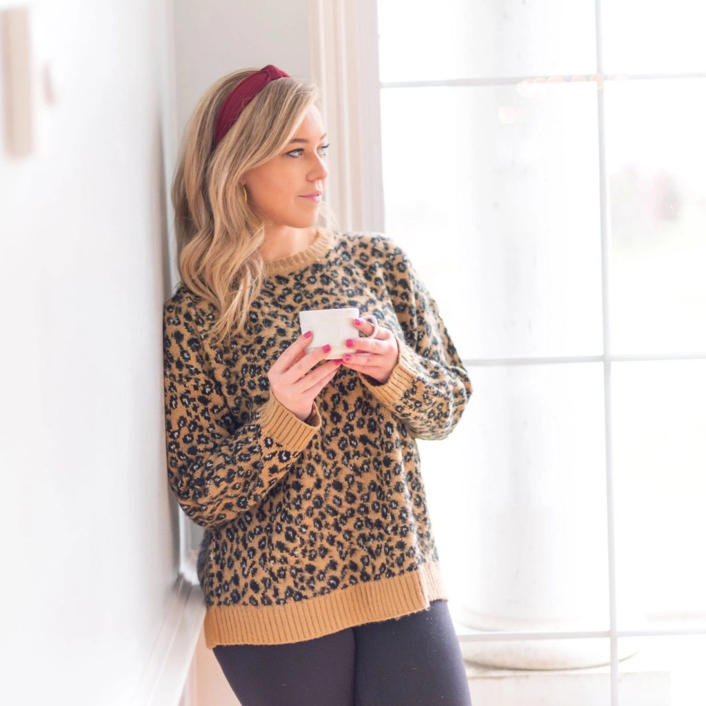 leopard sweater front